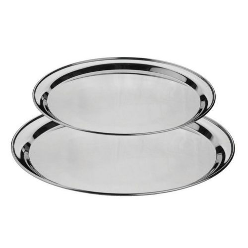 Stainless Steel Round Service Tray - MORE OPTIONS